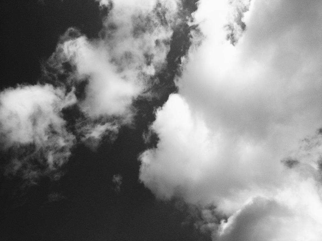 大きな雲と